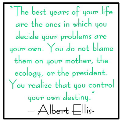 Control Your Own Destiny Albert Ellis