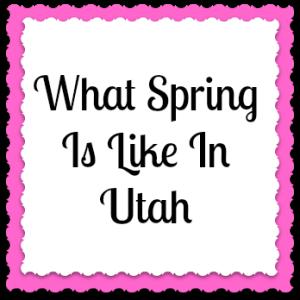 Spring In Utah