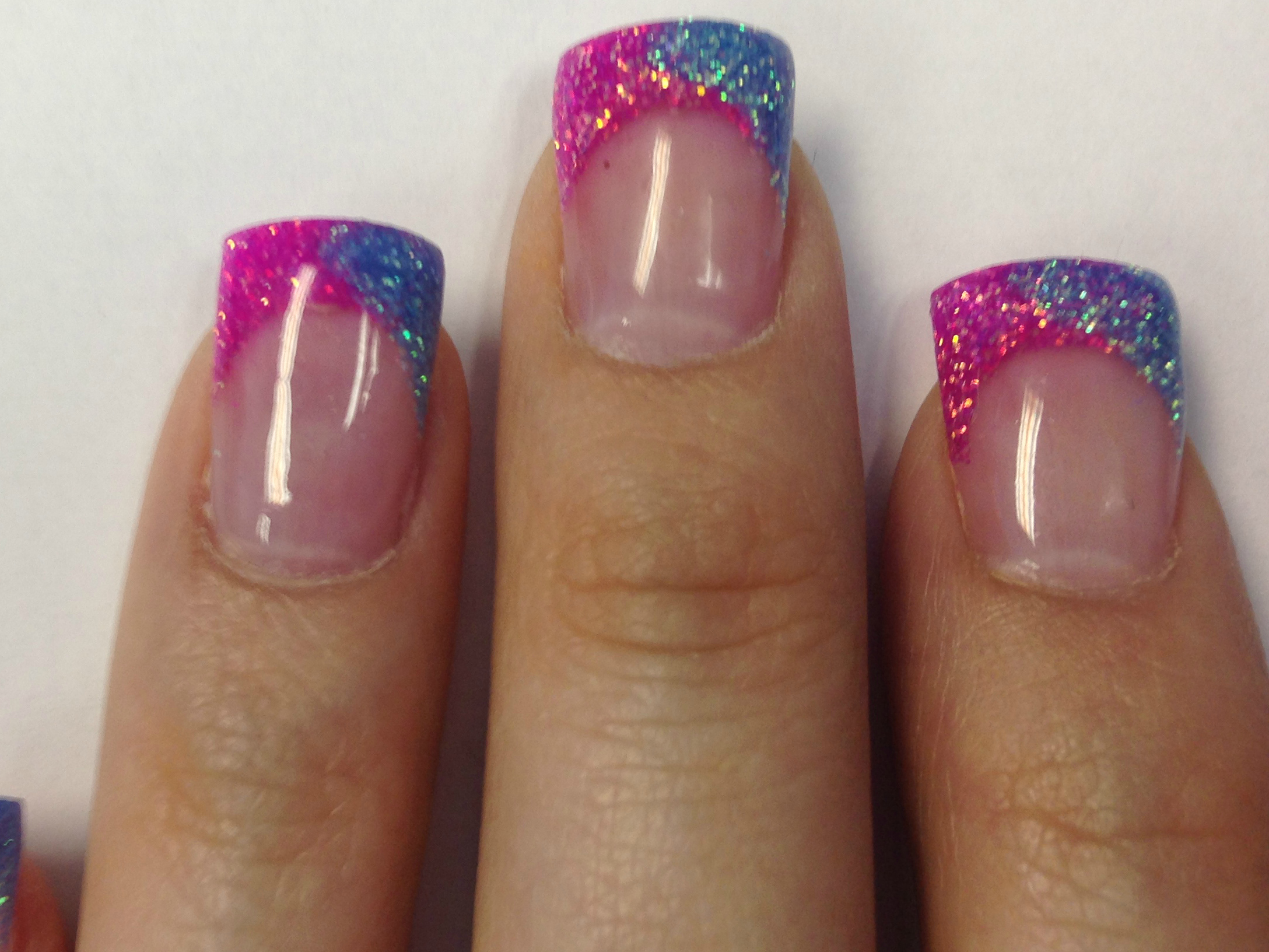 Nails Of The Month ~ Pink and Blue