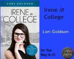 irene in college button